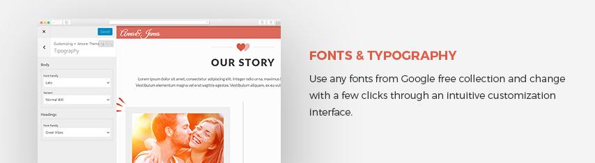 Amore Wedding WordPress Theme