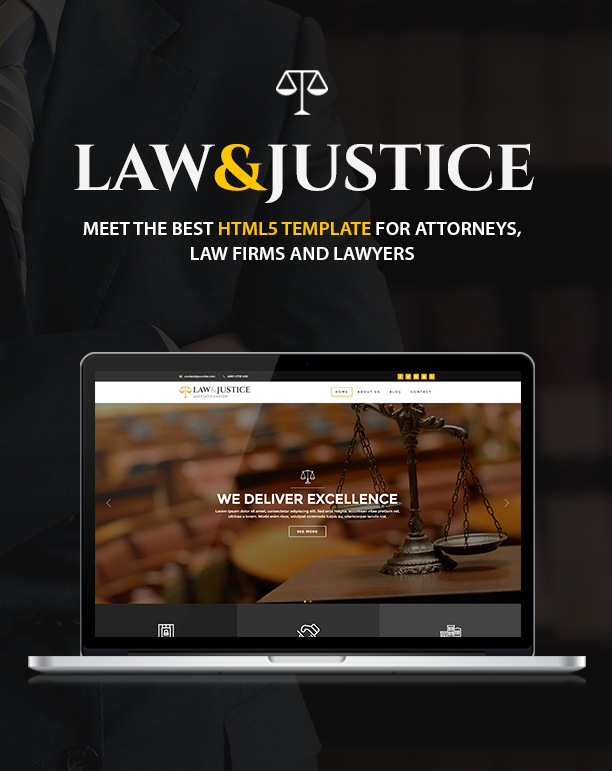 Law & Justice: lawyer HTML5 Bootstrap Template